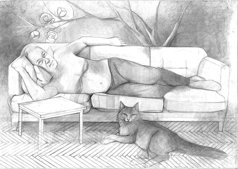 My Father - Pencil On Paper, 100x70 cm, 2012