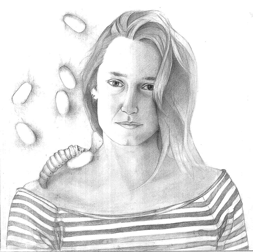 Ayşegül - Pencil On Paper, 51x64 cm, 2013