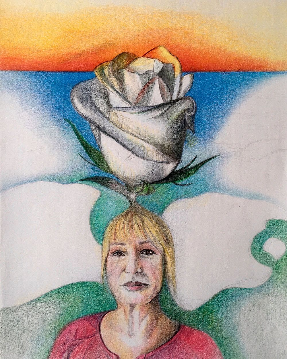 Gulheran, Color Pencil On Paper, 30x42 Cm, 2015